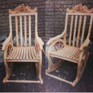 تولیدی صندلی گهواره ای منبتی خام