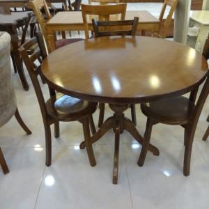 میز غذاخوری ارزان مدل گلدانی ب صندلی کف چوب