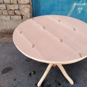 تولیدی میز گلدانی به صفحه دور چوب خام