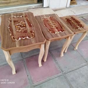 تولید میز عسلی 3 تکه معرق خام