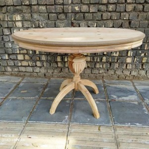 خرید میز بیضی با پایه شیاری خام