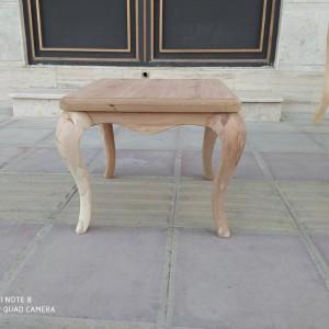 ساخت میز عسلی و جلو مبلی ماهیچه ای راش خام