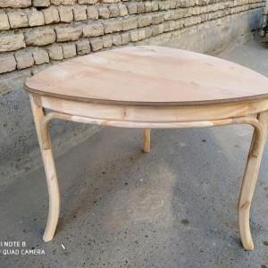 میز و صندلی لهستانی 3 نفره خام