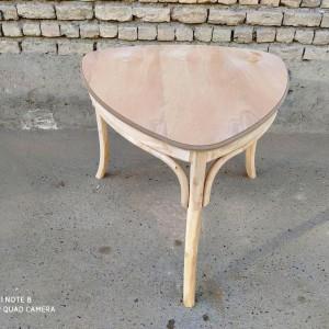 صندلی و میز لهستانی 3 نفره خام