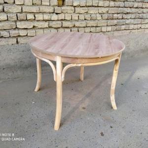 تولید کننده میز لهستانی با صندلی لهستانی خام گرد