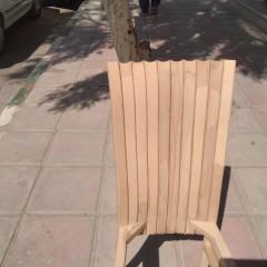 خرید صندلی صدفی پشت بلند راش