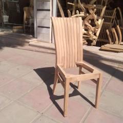 صندلی صدفی پشت بلند راش