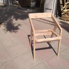 صندلی مدرن دسته کج