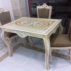 پخش میز منبتی با صندلی نفیس