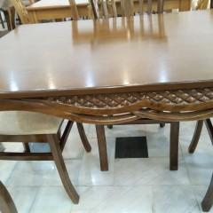 میز ماهان با صندلی شش تیره