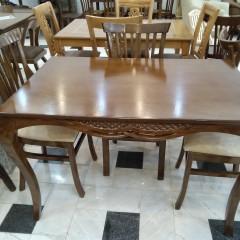 تولید میز ماهان با صندلی شش تیره