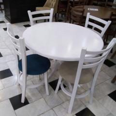 فروش صندلی طوقی با میز گلدانی گرد