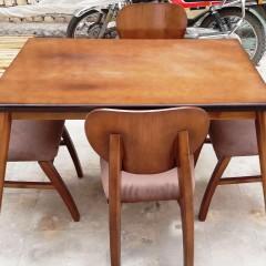 صندلی فیلی با میز لوله ای راش