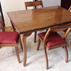 میز چپندر 4 نفره با صندلی درنا اس راش کد 1515