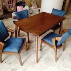خرید صندلی پیچک با میز لوله ای
