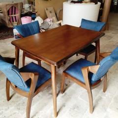 فروش صندلی پیچک با میز لوله ای
