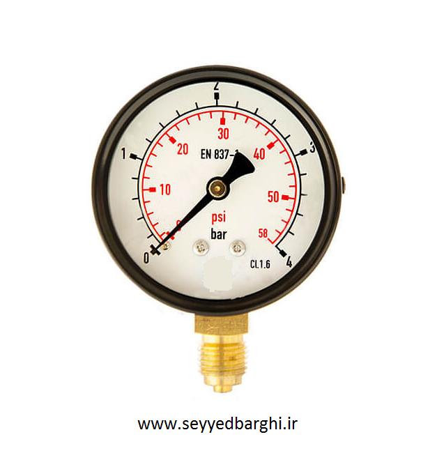 فشار سنج خشک عمودی صفحه 6 سانت