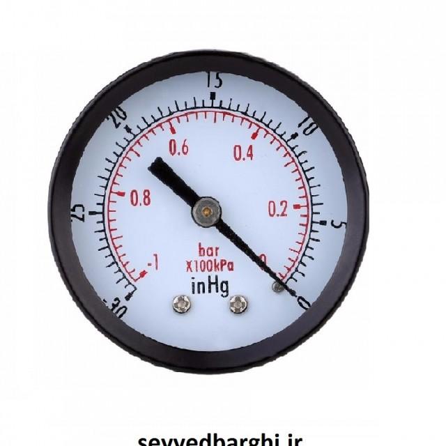مانومتر خشک وکیوم -1 بار (خلا سنج) افقی صفحه 6 سانت FG
