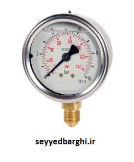 مانومتر  600 بار روغنی عمودی 6 سانت Aterma ترکیه
