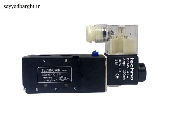 شیر برقی پنوماتیک تکنو مدل 4V210-08