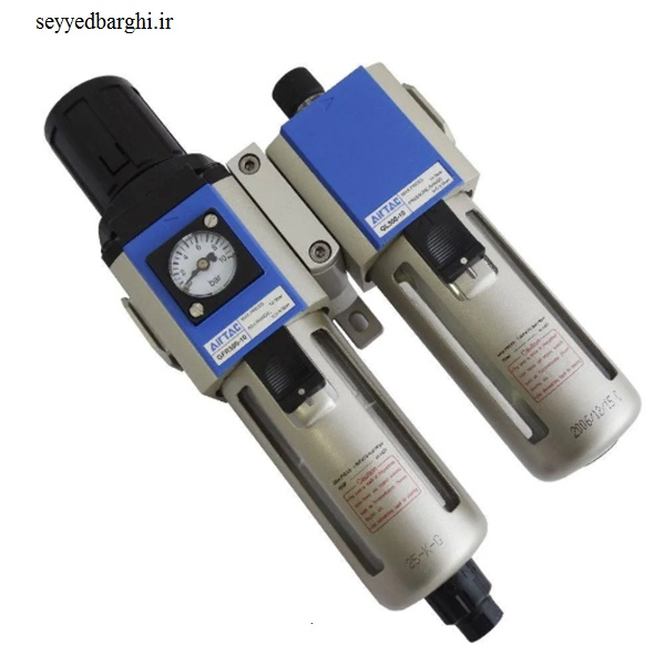 واحد مراقبت پنوماتیک یک اینچ دو تکه Airtac با تخلیه اتومات
