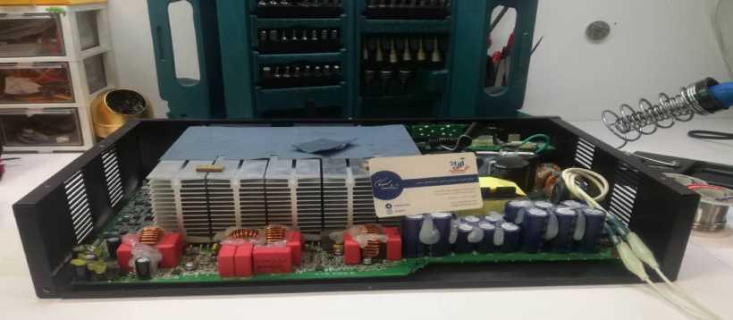 تعمیر پاور آمپلی فایر کاروین Carvin Power DCM3800LX-E