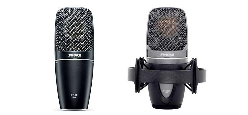 میکروفونهای PG27USB و PG42USB شور