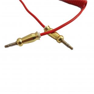 کابل AUX فنری سر فلزی