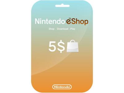 کارت 5 دلاری نینتندو ایشاپ