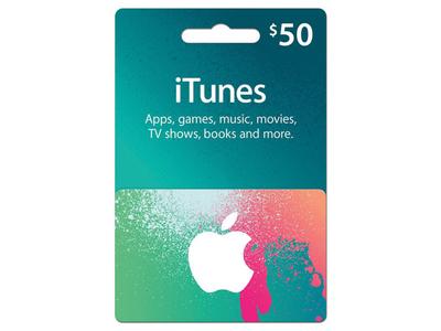 گیفت کارت آپل آیتونز ٥٠ دلاری