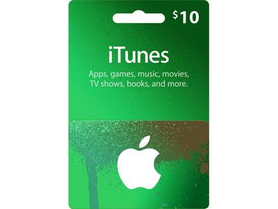 گیفت کارت آپل آیتونز 10 دلاری