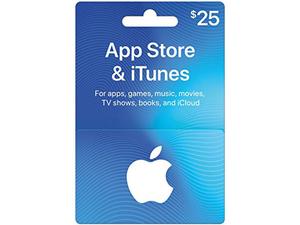 گیفت کارت آپل آیتونز ٢٥ دلاری