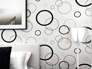 کاغذ دیواری سفید و سیاه