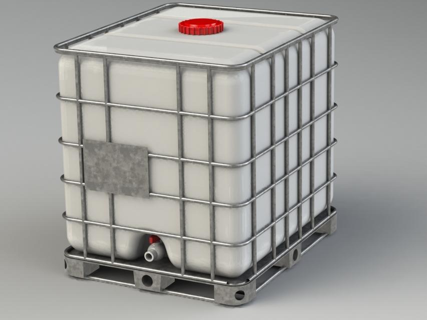 مخزن 1000 لیتری حفاظ دار IBC
