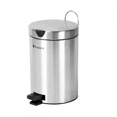 سطل زباله پدالی 3 لیتری و برس دستشویی Brasiana