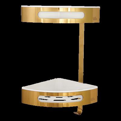 قفسه حمام استیل کنج مدل 5252