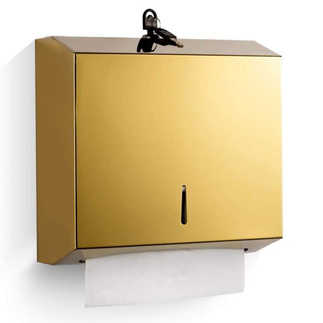 مخزن دستمال استیل طلایی G40