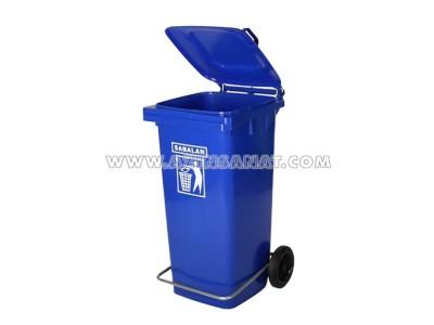 مخزن زباله 120 لیتری پدالدار
