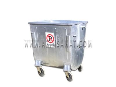 مخزن زباله 770 لیتری قوس دار بدون درب ( با ورق 1.5)