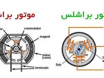 تفاوت موتورهای معمولی (AC) با موتور های براشلس (DC)