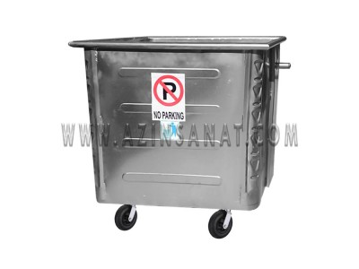 سطل زباله صنعتی 1100 لیتری مکعب پرسی (ورق 1.5)