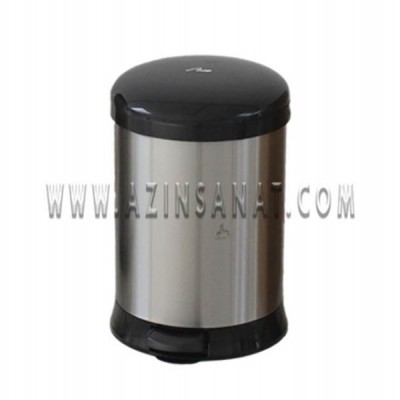 سطل پدالدار 20 لیتری آرام بندAMD (درب مشکی)