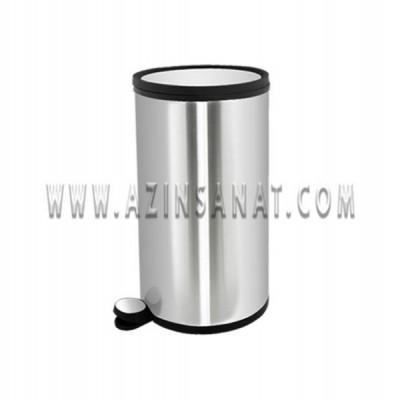 سطل پدالدار 12 لیتری آرام بند (تمام استیل)