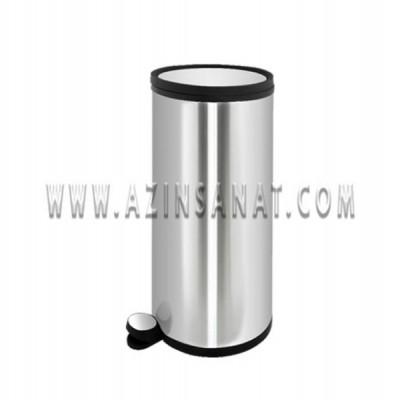 سطل استیل آرام بند 30 لیتری AM (درب استیل)