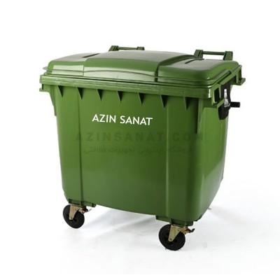 مخزن زباله پلی اتیلن 1100 لیتری