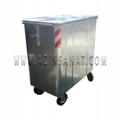 مخزن زباله 770 لیتری مکعب با درب فلزی ( با ورق 2)