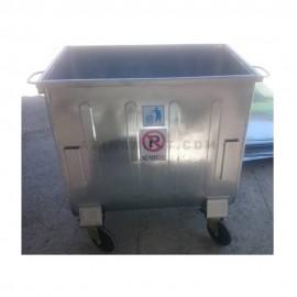 سطل زباله فلزی 660 لیتری قوس دار مدل 430