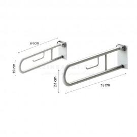 دستگیره سالمند تاشو فلزی (74 سانتیمتر) LO-M-74