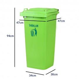 سطل زباله 120 لیتری بدون چرخ