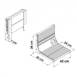 صندلی حمام (کابین دوش) تاشو TSF-W